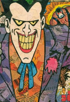 Joker Comic Collage Giclee Print by ComicReliefOriginals on Etsy Comic Collage, Comic Art, Comic Books, Joker Comic, Harley Quinn Comic, Bruce Timm, Old Comics, Marvel Dc Comics, Character Drawing