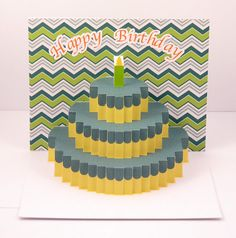 pop up Birthday card handmade by PaperButterflyShoppe on Etsy