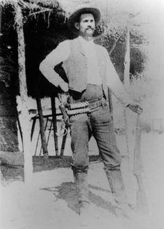 Photograph of Arizona Ranger, Henry C. Wheeler, with his rifle in Arizona. :: Arizona Archives Historic Photographs