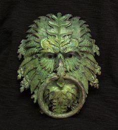 Bronze Greenman Door Knocker
