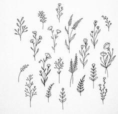 Trendy Flowers Tattoo Designs Skizzen Natur Ideen - { Flowers } tattoos for women Mini Tattoos, Cute Tattoos, Small Tattoos, Tatoos, Tattoos For Women Small, Flower Tattoo Designs, Flower Tattoos, Doodle Drawings, Doodle Art