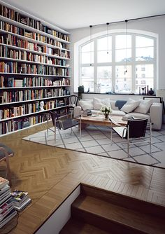 Wide open spaces (and that bookshelf!)