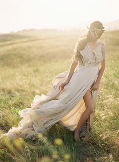 Holy. Shit. Beautiful. THAT's how to use a windy, sunny, cloudless day for a fashion shoot.  Samuelle Couture, Greek Goddess « Jose Villa | Fine Art Weddings