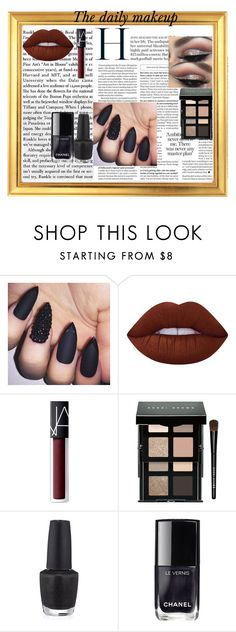 Makeup by chloecptr on Polyvore featuring mode, Bobbi Brown Cosmetics, Lime Crime, NARS Cosmetics, Chanel and OPI