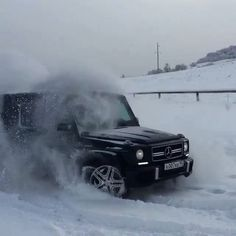 """Do you remember the last time you played in the snow? Video via @adam__007__.  #MercedesBenz #MercedesAMG #AMG #GClass #GWagon #mbrussia #snowtime…"""