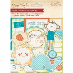 Baby Boy Scrapbook die cuts