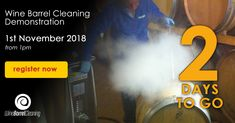 Events for Winery Owners Demonstrating Steam Cleaning in Action Complimentary Free, Steam Cleaning, Barrel, Victoria, Events, Wine, Day, Barrel Roll