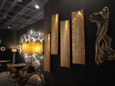Lámpara de pared en hoja de oro con luz directa TILES KC 020a/b by Karpa