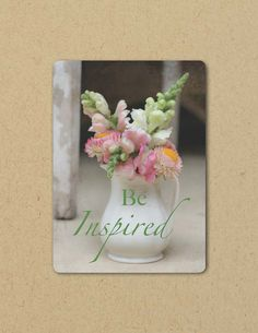 Photo Greeting  Card BE INSPIRED Eco by FarmFreshPhotography, $4.25