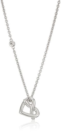 "AmazonSmile: Fossil Sterling Silver Heart Chain Necklace, 16.5"" + 2"" Extender: Jewelry"