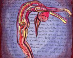 Yoga Art Print 5 x 7 Crown Chakra Yoga cadeau door ElizaTobin