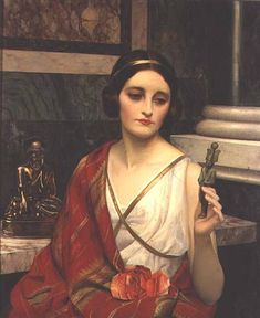 The False God by William Clarke Wontner (Unknown Owner/Private Collection - Location Unknown)  Academic Classicism