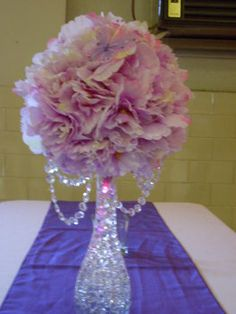 1000 images about center pieces on pinterest sweet 16 for Flower arrangements for sweet 16