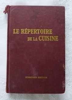 1000 images about old cookery recipe books on pinterest for Repertoire de la cuisine