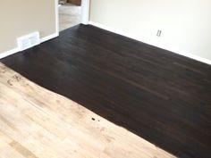 Ebony stained oak floors
