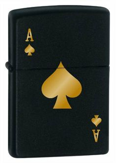 Ace of Spades Zippo Lighter - Black by Nicebadge. $35.00. Easily spark a flame with this precision laser etched Zippo lighter. With its matte black finish, no matter where you use your Zippo, you will be using it in style.