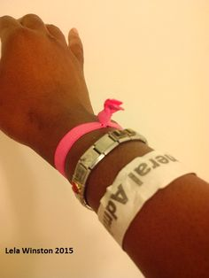 My paper arm band from the concert
