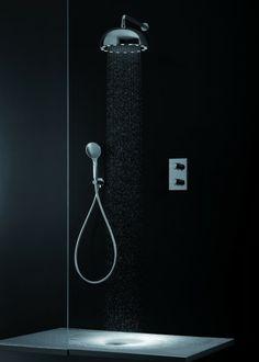 Il soffione montato a parete Dynamo Shower di Cristina Rubinetterie è dotato di illuminazione a LED completamente autoalimentata. È disponibile anche per installazione a soffitto e nella finitura bianco opaco e nero opaco Misura ø 34 cm.  - See more at: http://www.lenartebagno.it/blog/#sthash.GtTjWURG.dpuf