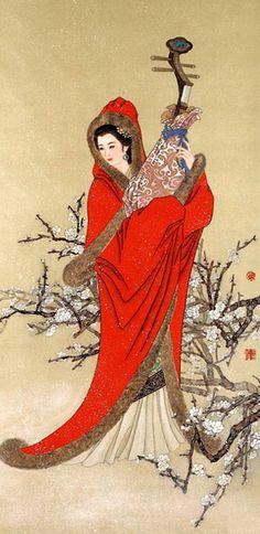 un des quatres beautés antiques de la Chine: Wang Zhaojun