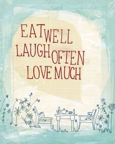 Eat Well fine art print - a Sweet William illustration on archival paper.