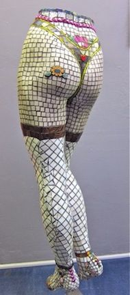 Christy by Jodey DuganWe sell used mannequin legs at MannequinMadness for mosaic projects like this