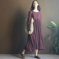 Aliexpress.com : Buy [LYNETTE'S CHINOISERIE Sang] 2013 linen casual three dimensional cut lantern solid color full dress bust skirt 5 from R...