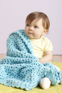 Image of Sea Blue Baby Afghan