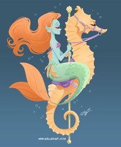 Mermaid Carousel #1 by KelleeArt on @DeviantArt