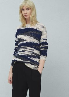 Jersey algodón textura - Cárdigans y jerséis de Mujer  4c59bbe62027