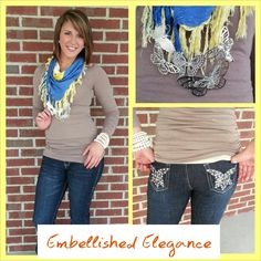 ~ Contact Embellished Elegance to purchase.  ~