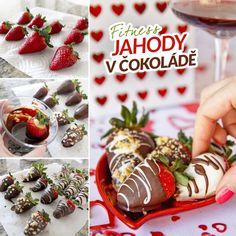 Fitness jahody v čokoládě - zdravý recept Bajola Valentýn Caprese Salad, Happy Valentines Day, Nutella, Strawberry, Coconut, Vegan, Fruit, Healthy, Cake