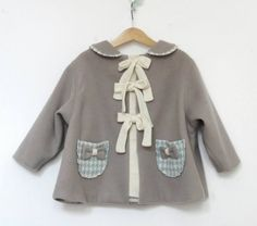 girls coat design by mon petit soleil - made in Romania Girls Coats & Jackets, Winter Coat, Winter Jackets, Sweaters, How To Make, Romania, Design, Fashion, Moda