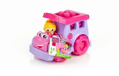 Mega Bloks First Builders School Bus Pink (DBL83)  Manufacturer: Mattel Barcode: 065541804418 Enarxis Code: 018306 #toys #Mattel #Fisher_Price #Mega_Bloks #school_bus