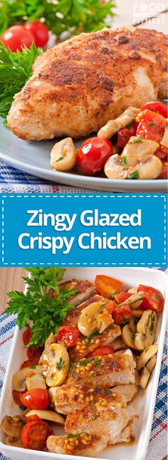 Cripsy, sweet and spicy with a tasty zingy flavour. This quick and easy crispy baked chicken recipe is a mid-week winner. Crispy Chicken Recipes, Crispy Baked Chicken, Chicken Steak, Glazed Chicken, High Protein Recipes, Healthy Eating Recipes, Ww Recipes, Cooking Recipes, Mini Foods