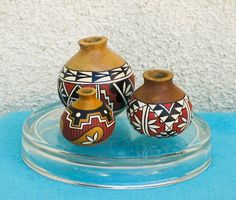 Southwestern HandPainted Miniature Gourd Pot by AChristmasbyCarol, $24.00