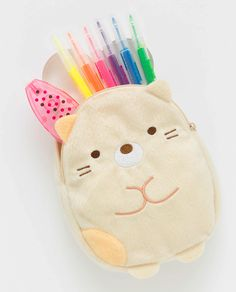 Sumikko gurashi neko plush pencil case