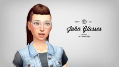 John Glasses by burritosims at SimsWorkshop via Sims 4 Updates