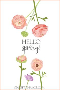 Spring Printables for DIY Wall Art | Collection of original printables perfect for DIY wall art, cards, crafts, screensavers and more! Free and ready to download instantly.