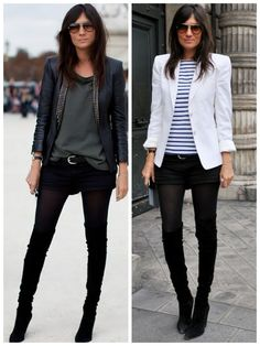 Emmanuelle Alt does skinnies my way : ) Casual Chic, Emmanuelle Alt Style, Looks Style, My Style, Work Fashion, Fashion Design, Style Fashion, Fashion Outfits, Looks Black