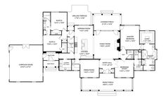 We Love a Classic: House Plan 2049 Is Perfect for Every Stage of Life One Level House Plans, Best House Plans, Dream House Plans, Modern House Plans, House Floor Plans, The Plan, How To Plan, Southern Living House Plans, Cottage House Plans