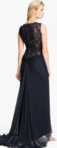 Tadashi Shoji Lace & Chiffon Gown  ♥✤ | Keep the Glamour | BeStayBeautiful