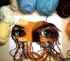 Knit Art, Crochet Art, Irish Crochet, Crochet Hooks, Crochet Mandala Pattern, Freeform Crochet, Crochet Patterns, Textiles, Thread Painting
