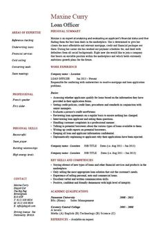 Mortgage Administrator Sample Resume 24 Best Cv Images On Pinterest