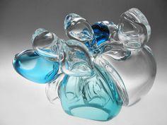Tunicates  Glass Sculpture Colourful Ocean Sea by LarissaBlokhuis, $300.00