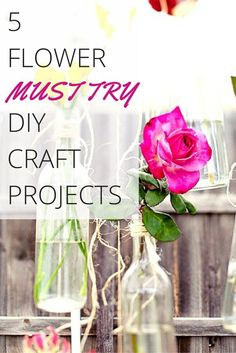 5 flower DIY Craft Projects perfect for the home