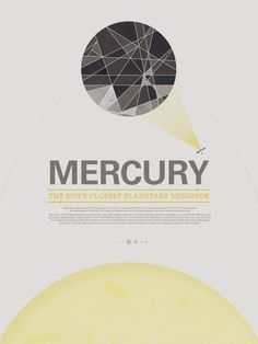 Mercury from a series of Vintage-inspired posters of the planets by Stephen Di Donato