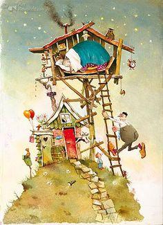 Marius van Dokkum (kunstboek - kinderboek) opa Jan wint een olifant