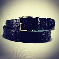 Genuine #crocodile belt - #vialamoda Bangles, Bracelets, Crocodile, Belt, Classic, Accessories, Jewelry, Style, Fashion