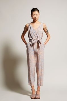 No.6 Taylor Jumpsuit in Pink/Blue Safari
