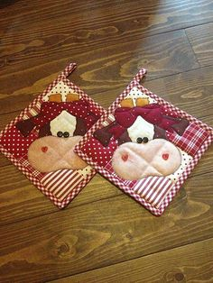 RETIRADO DA NET.....(these potholders moooooves me! they are udderly adorable!)...